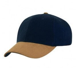 Sueded Peak Cap Navy