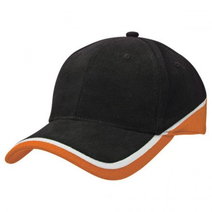 Sunset Cap - Black White Orange