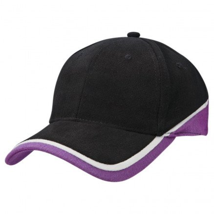 Sunset Cap - Black White Purple