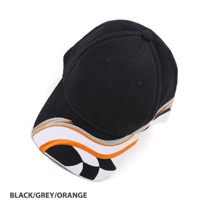 Raceway Cap Black_Grey_Orange