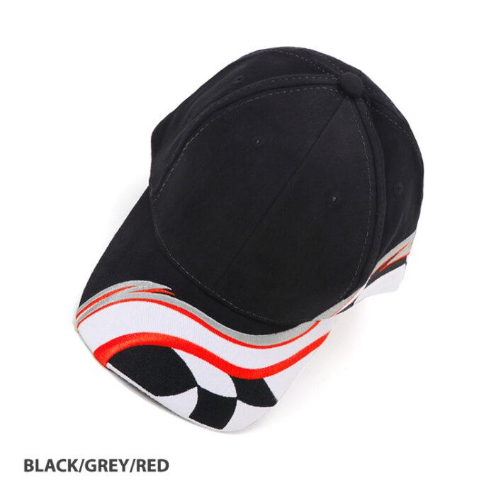 Raceway Cap Black_Grey_Red