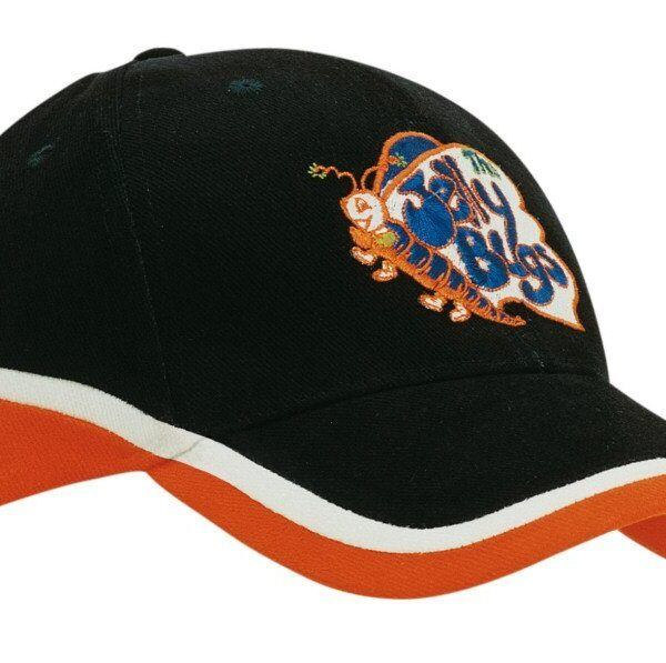 Tri Colour Brushed Heavy Cotton Cap