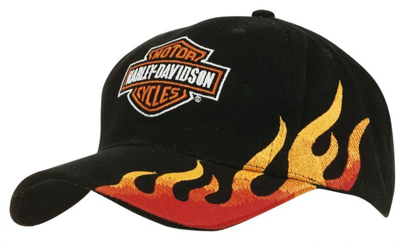 Embroidered Flame Brushed Heavy Cotton Cap