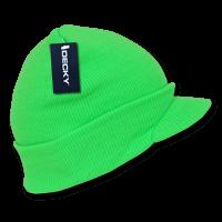 Neon Jeep Cap Beanie-Neon Green