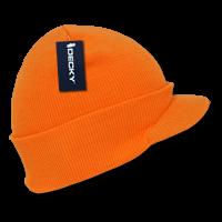 Neon Jeep Cap Beanie-Neon Orange