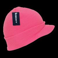 Neon Jeep Cap Beanie-Neon Pink