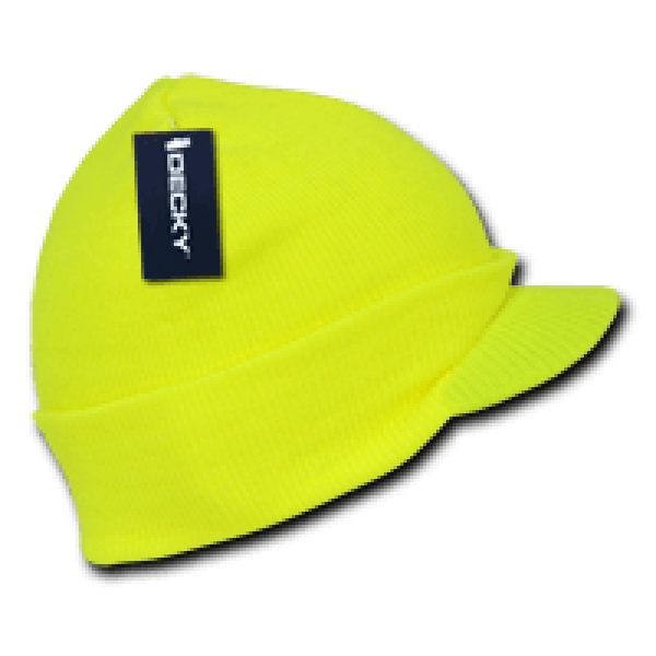 Neon Jeep Cap Beanie-Neon Yellow