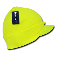 Neon Jeep Cap Beanie-Neon Yellow