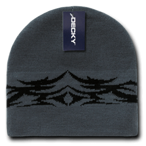 Tribal Beanie - Grey