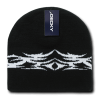 Tribal Beanie - Black