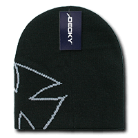 Chopper Beanie-Black/Grey