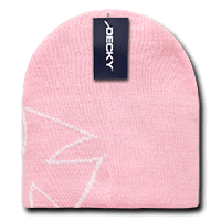Chopper Beanie-Pink/White