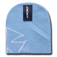Chopper Beanie-Powder Blue/White