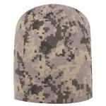 Digital Camouflage Jersey Knit Beanie