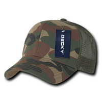 Camo Curved Peak Trucker