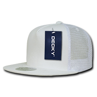 Five Panel Flat Peak Trucker