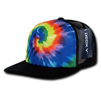 Rainbow Tie Dye Trucker Cap