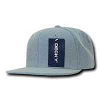 Denim Snapback Cap - Light Blue