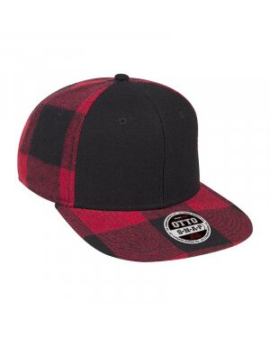 Six Panel Plaid Square Cap