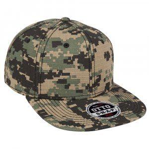 Digital Camouflage Flat Cap