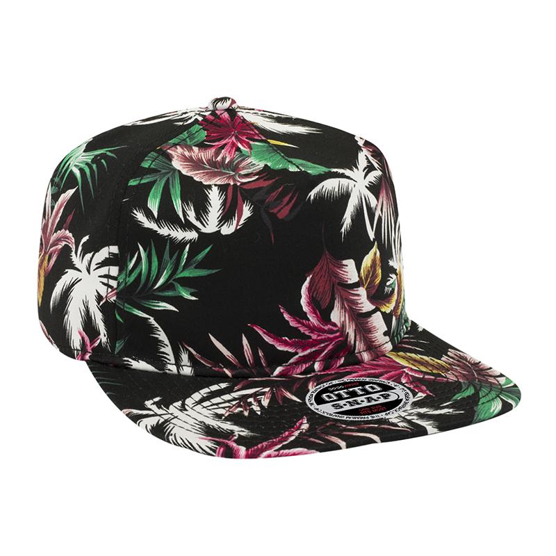 Five Panel Hawaiian Cotton Twill Snapback Cap - Customised  1ccbed72369
