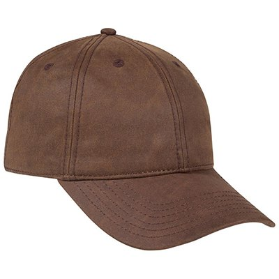 Six Panel Heavy Washed Wax Coated Cap