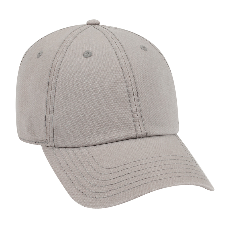 Six Panel Garment Washout Cotton Canvas Dad Cap