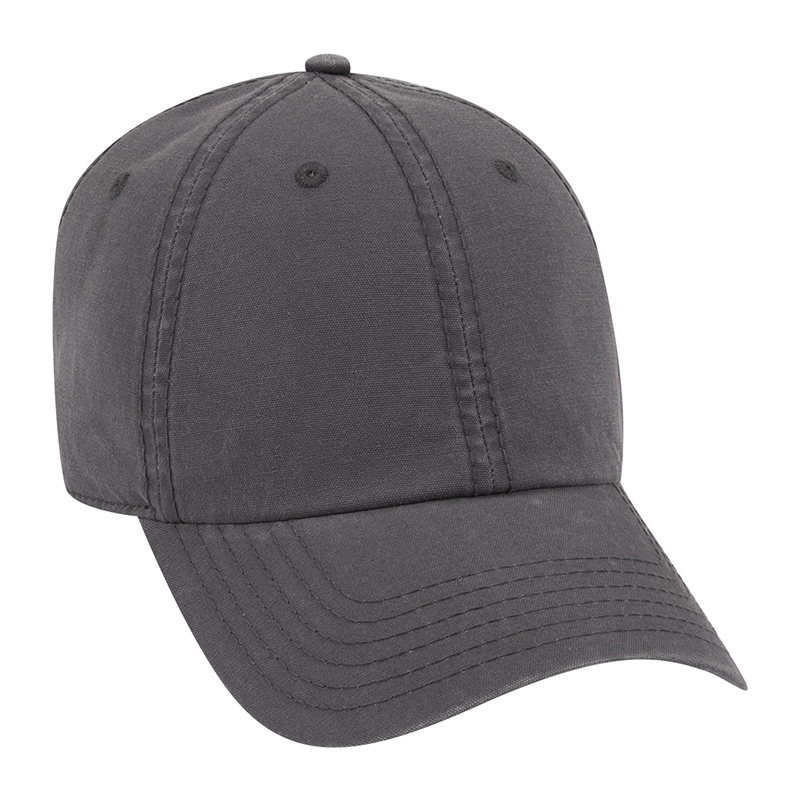 Six Panel Garment Wash Out Cotton Canvas Dad Cap