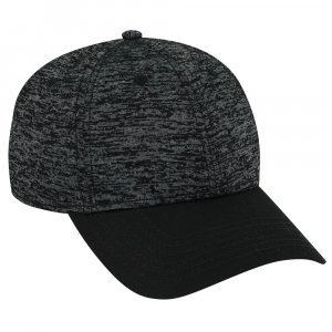 Six Panel Rayon Blend Jersey Knit Baseball Cap