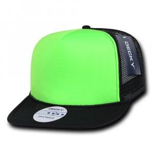 Flat Peak Neon Trucker Cap