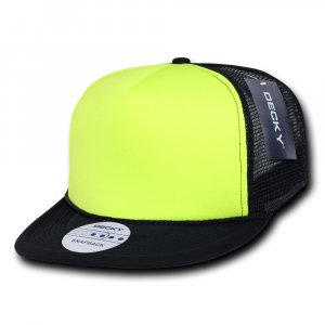 d17a19aeb21 Flat Peak Neon Trucker Cap - Promotional Embroidered Caps