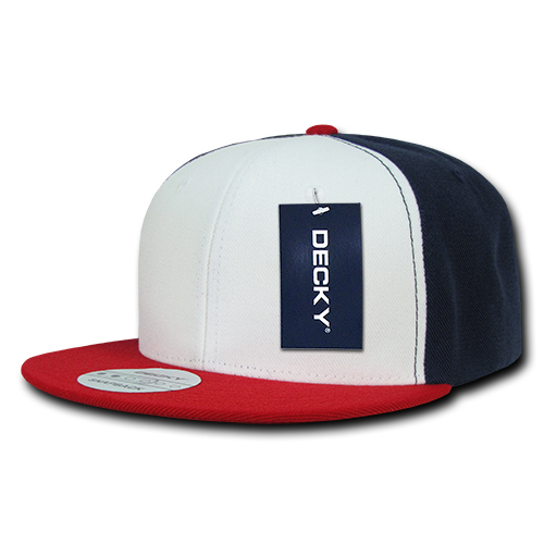 Three Tone Flat Peak Snapback