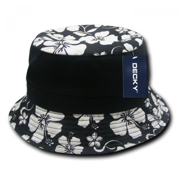 Floral Brim Polo Bucket Hat