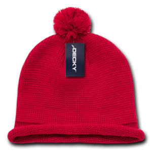 Solid RollUp Beanie