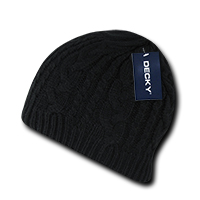 Braidy Knit Beanie - Black