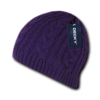 Braidy Knit Beanie - Purple
