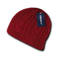 Braidy Knit Beanie - Red