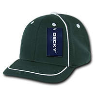 Performance Mesh Piped Snapback Green