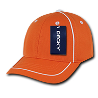 Performance Mesh Piped Snapback Orange