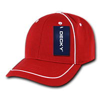 Performance Mesh Piped Snapback Red