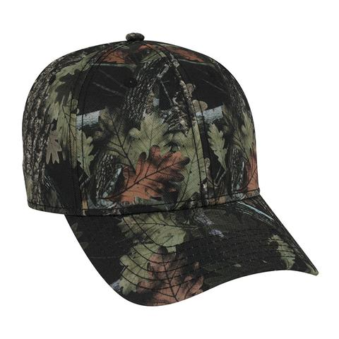 Six Panel Poly Twill Camo Cap
