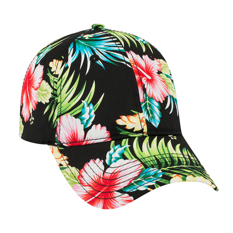Six Panel Hawaiian Cotton Twill Cap