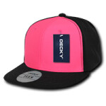 Two Tone Neon Flat Peak Flex Cap