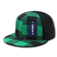 Flat Peak Plaid Flex Cap