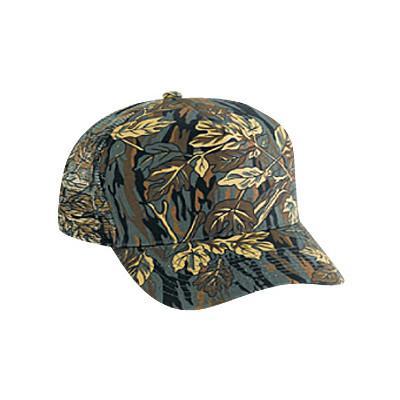 Five Panel Camouflage Mesh Cap