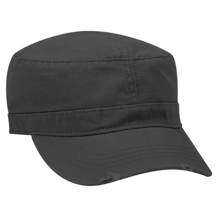 Military Distressed Peak Cap