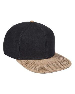 Six Panel Denim Cork Cap