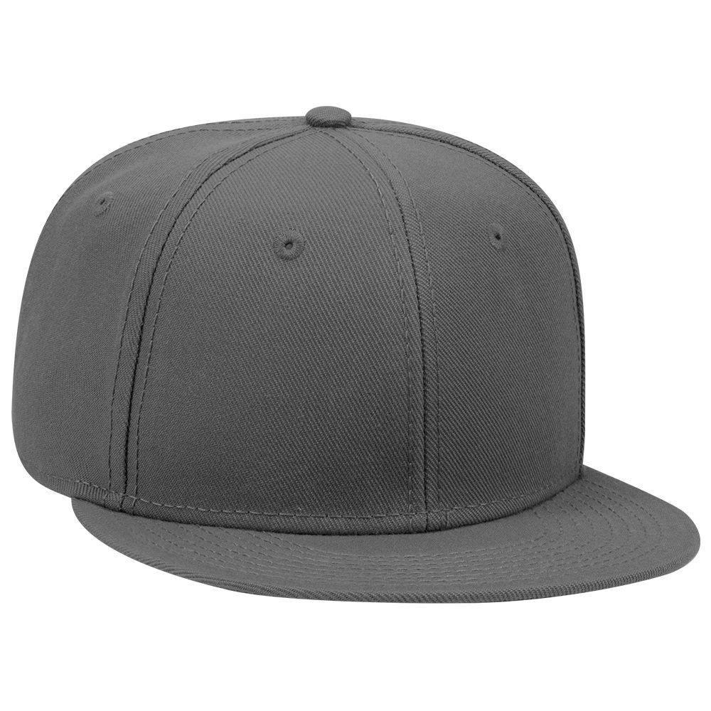 0e90c8c9876 Six Panel Wool Blend Flat Cap - Custom Flat Caps