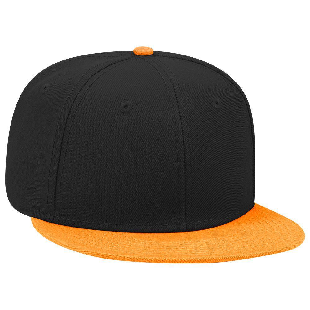 Six Panel Wool Blend Flat Cap - Custom Flat Caps  f704fdc3681