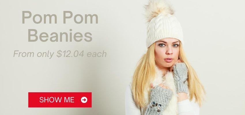 Custom Pom Pom Beanies Banner